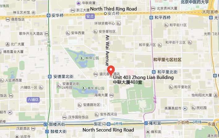 job site china Beijing Office Map
